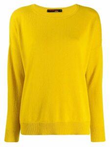 Incentive! Cashmere drop shoulder jumper - Yellow
