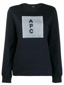A.P.C. logo sweatshirt - Blue