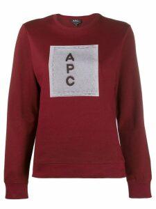 A.P.C. logo sweatshirt - Red