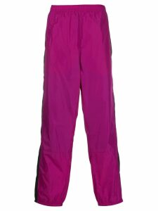 Acne Studios contrasting stripe track trousers - Purple