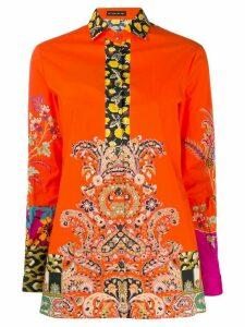 Etro contrast print shirt - Orange