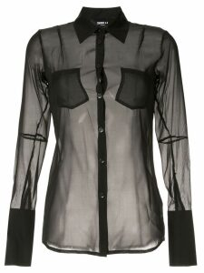 Yang Li sheer shirt - Black