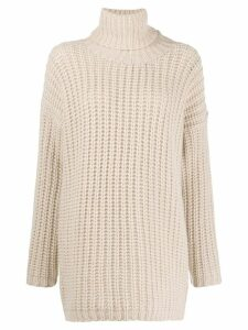 Incentive! Cashmere waffle-knit turtleneck jumper - Neutrals