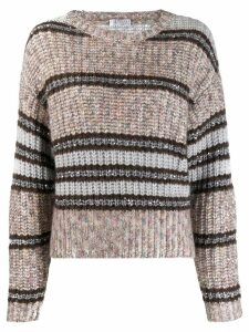 Brunello Cucinelli striped knit jumper - Neutrals