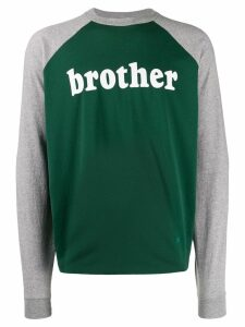 Acne Studios printed long-sleeved T-shirt - Green