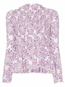 See By Chloé ruffle-trim paisley print top - PURPLE