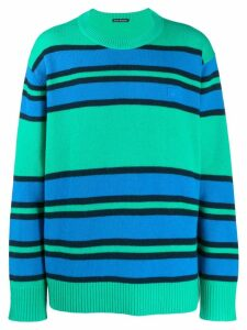 Acne Studios face patch striped jumper - Green