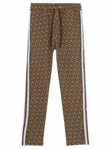 Burberry monogram stripe trackpants - Brown