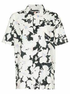 Double Rainbouu floral print short-sleeve shirt - White