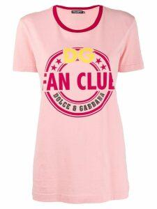 Dolce & Gabbana Fan Club print T-shirt - PINK