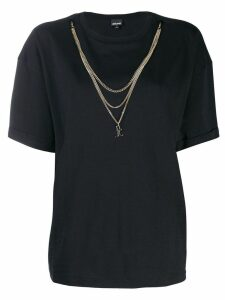 Just Cavalli chain embellished T-shirt - Black