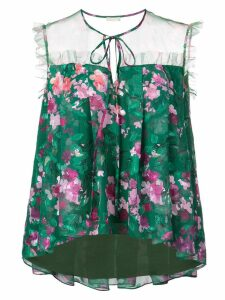Marchesa Notte floral blouse - Green