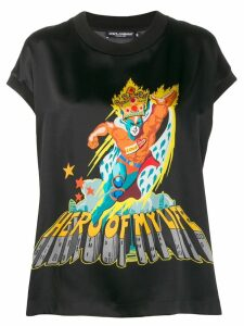Dolce & Gabbana Hero Of My Life T-shirt - Black