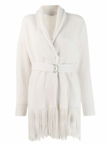 Brunello Cucinelli fringed cardigan - White