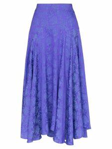 Chloé silk jacquard midi skirt - Purple