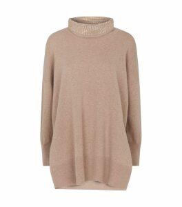 Crystal-Embellished Rollneck Sweater