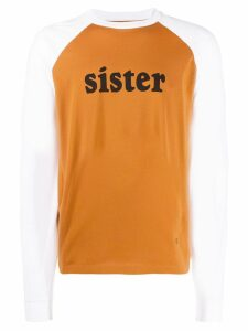 Acne Studios printed long sleeve T-shirt - ORANGE