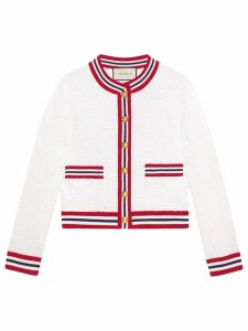 Gucci GG wool silk cardigan - White