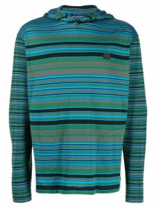 Acne Studios striped long-sleeved hoodie - Green