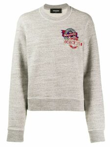 Dsquared2 embroidered logo sweatshirt - Grey