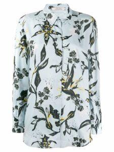 Dorothee Schumacher floral print longline shirt - Blue