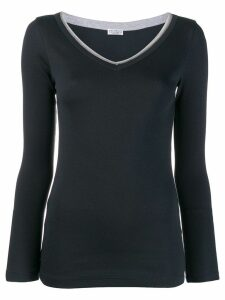Brunello Cucinelli v-neck sweater - CO657 BLU FREDDO