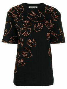 McQ Alexander McQueen Swallow embroidered T-shirt - Black