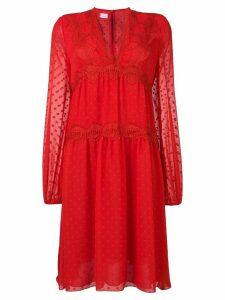 Giamba Plumetti midi dress - Red