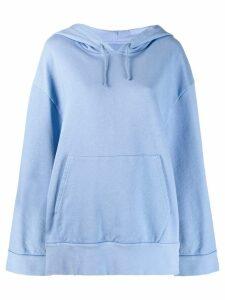 Maison Margiela oversized cape hoodie - Blue