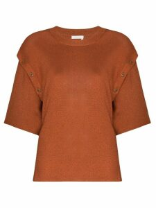 See by Chloé button detail knitted top - ORANGE