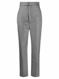 Haider Ackermann Houndstooth high-waisted trousers - Black