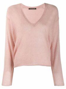 Luisa Cerano V-neck jumper - Pink