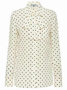 Prada polka dot shirt - White