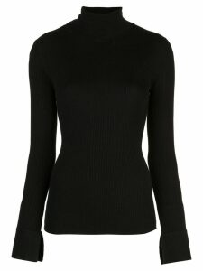 Proenza Schouler Cuffed Rib Turtleneck - Black