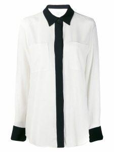 Equipment contrast trim shirt - White