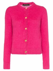 Versace button-up knitted cardigan - PINK
