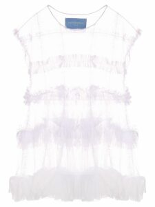 Victor & Rolf sheer ruffled blouse - White