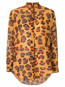 Tata Naka oversized leopard shirt - Yellow