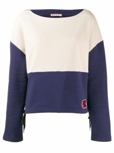 Marni two-tone sweatshirt - Blue