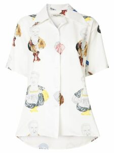 Tata Naka Hawaian print shirt - White