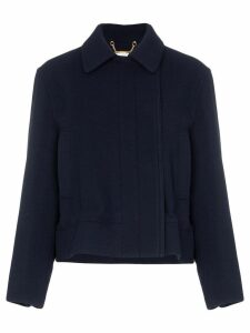 Chloé drawstring cropped jacket - Blue