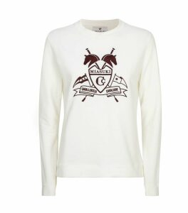 Embroidered Crest Sweatshirt
