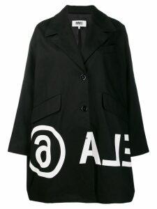 Mm6 Maison Margiela printed coat - Black