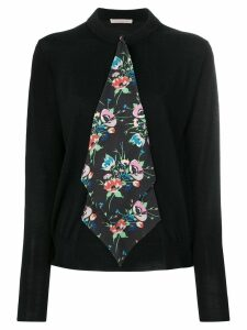 Christopher Kane archive floral tie cardigan - Black