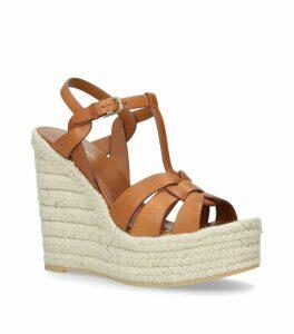 Leather Espadrilles Wedge Sandals 95