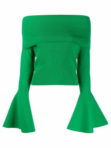 Solace London off-shoulder sweater - Green