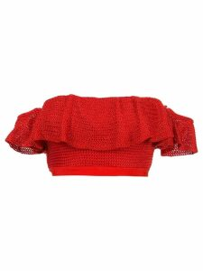 Suboo Lucy knitted bandeau top - Red