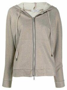 Peserico classic slim-fit hoodie - Grey