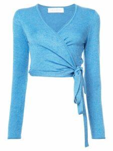 Marina Moscone V-neck wrap sweater - Blue