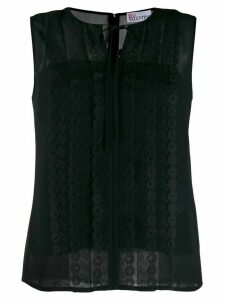 Red Valentino embroided blouse - Black